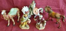 "Fontanini ~ 1992 Three Wise Men for 5"" Scale Heirloom Collection ~ 5 Pcs ~ Euc"