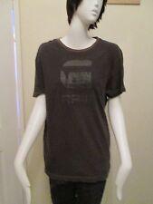 G-STAR - BROWN LOGO - CREW NECK S/SLEEVED T-Shirt size M - 100% COTTON