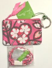 NWT VERA BRADLEY ZIP ID CASE AND LANYARD SET GIFT BLUSH PINK COLOR