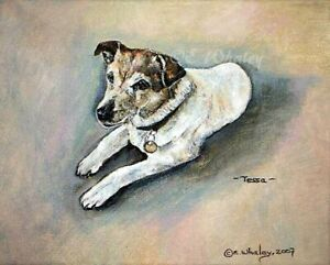 Jack Russell Terrier Dog Art Giclee 8x10 Open Edition Print With COA