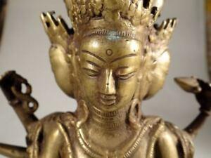 JAPANESE BUDDHA WITH MANY ARMS ZEN BUDDHIST ANTIQUE 1