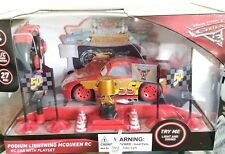 Disney Pixar Cars 3 Podium Lightning McQueen Radio Control RC Car with Play Set