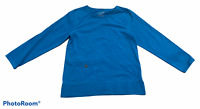Woman's NEON BUDDAH Blue 3/4 Sleeve Blouse Top Cotton Blend Shirt Size Small S