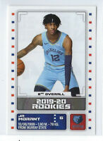JA MORANT 2019-20 PANINI STICKER EUROPE EDITION ROOKIE RC SP #444 EUROPEAN