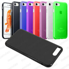 Funda carcasa para iPhone 7 (4.7) Gel TPU Lisa Mate Colores Varios Elige