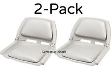 2-Pack Light Gray Fold Down Padded Boat Seats Boating Bass Fishing Seat Set