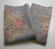 2 Rare Ralph Lauren Shelter Island Floral Std Pillowcases Blue Bouquets Roses