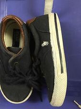 Ralph Lauren Boys/ girls  Size 9,  black  tie ,boat shoe  sneaker
