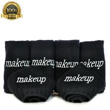 Luxury Black Cloth Make up Cleansing 100% Cotton Cosmetics Removal Towels 6 Pcs