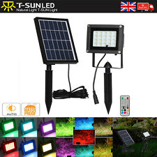 9 color RGB Solar Powered LED Floodlight Security Spotlight Garden Lamp + Remote