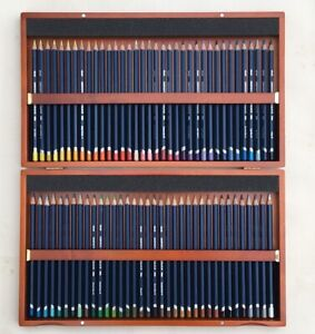 Derwent watercolor pencils set 72 pieces In Wooden Box