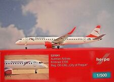 Herpa Wings 1:500  Embraer E 195  Austrian Airlines  531641  Modellairport500
