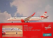 Herpa Wings 1:500  Embraer E195 Austrian Airlines OE-LWL 531641 Modellairport500