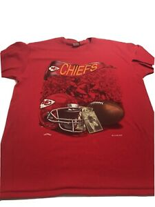 Kansas City Chiefs NFL 1994 Vintage Single Stitch Men's XL Embroidered Stitch!!!