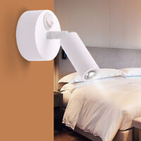 Wall Mount Reading Light LED Button Switch Rotated Bedside Table Cabinet Lamp