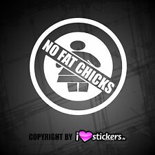 NO FAT CHICKS   Aufkleber  Shocker Sticker OEM JDM Stickerbomb Tuning   030