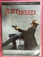 JUSTIFIED TERCERA 3ª TEMPORADA COMPLETA SERIE TV 3 x DVD TIMOTHY OLYPHANT  AM