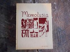 ** Vintage 1971 Andalusia Alabama Memolusia Yearbook Book ** Great Cond!