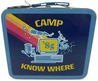 Stranger Things Tin Lunch Box Dustin Camp Know Where 1985 Netflix Rare NWT VHTF
