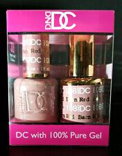 DND DC Soak Off Gel Polish Barn Red 108 LED/UV 6oz 18ml Gel Duo Set NEW