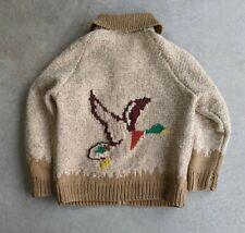 Vintage 1960s Cowichan Deer Sweater Rockabilly sz XL