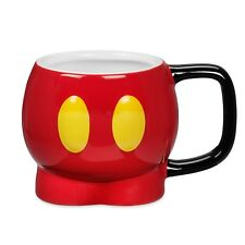 Disney Authentic Mickey Mouse Shorts Sculptured Ceramic Coffee Cup Mug 12oz New