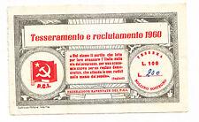 AA91-POLITICA-P.C.I. SOTTOSCRIZIONE 1960