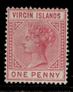 BRITISH VIRGIN ISLANDS QV SG29, 1d pale rose, UNUSED. Cat £50.