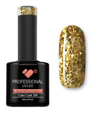 399 VB Line Gold Yellow Glitter - gel nail polish - super gel polish