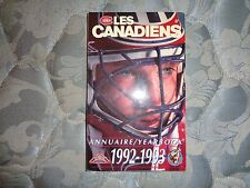 1992-93 MONTREAL CANADIENS MEDIA GUIDE YEARBOOK NHL CHAMPS! 1993 Program Mtl AD