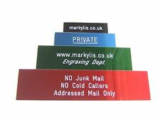 ENGRAVED ANODISED ALUMINUM SIGNS PLAQUES - CUSTOM NUMBER SIGN PLAQUE 200x50mm