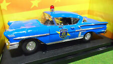 CHEVROLET CHEVY IMPALA POLICE 1/18 AMERICAN MUSCLE ERTL 32819 voiture miniature