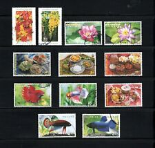 Thailand -- 4 complete sets of used commemoratives from 2002-03