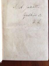 RARE 1858 Chronology History North Carolina Yadkin County GARRATT Garrett Family
