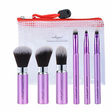 vela.yue Makeup Brush Set 6pcs Travel Beauty Tools Kit Retractable with Cover