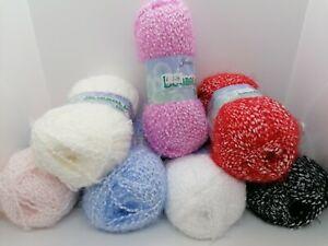 SALE James C Brett Bubbalicious DK Fluffy Bobbly Yarn 100g Balls 100% Polyamide