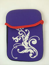 "FUNDA DE NEOPRENO CON DIBUJO DE 7"" PULGADAS PARA TABLET EBOOK COLOR MORADO"