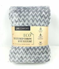 Life Comfort Urban Ultimate Eco Textured Throw/Blanket 60 x 70 in. Silver Grey