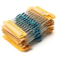 500pcs 50 Values 1/4W 1% 1Ω~10MΩ Metal Film Resistors Resistance Assortment Kit