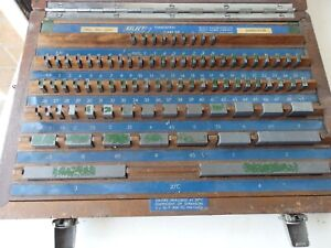 Select  tungsten carbide imperial slip gauge set no S 2158 Inspection