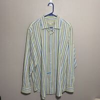Banana Republic Mens Sz XL Shirt Classic Fit Button Front Long Sleeve Striped