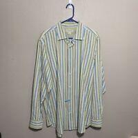 Banana Republic Mens Sz XL Shirt Classic Fit Button Front Long Sleeve Striped
