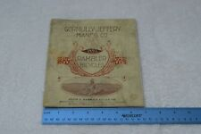 Vintage Gormully And Jeffery Manfg Co Catalog, Bicycle, 1895