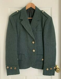 vintage Scottish Modern green tweed wool jacket chest 40 may fit M
