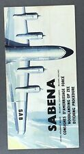 SABENA VINTAGE AIRLINE SAFETY CARD BROCHURE - DITCHING