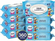 Cottonelle Flushable Toddler Wet Wipes Disney Mickey Mouse Kids 360 Ct 8-Pack
