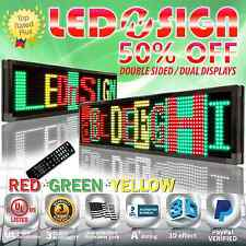 "LED Sign: 3COL-RGY/IR/2F 15""x40"" Programmable Scrolling Display Readerboard Sign"