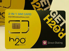 H2o Wireless Sim Card Unlimited Talk,Text,Data.International Call and Text
