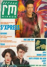 Mark Moore of S'Xpress on Magazine Cover 1989  XTC  Hue & Cry  Texas  Monie Love