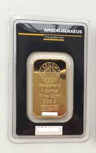 Lingot d'or - Gold Plated 24k - Argor-Heraeus - Neuf